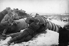 WW2 Photo Soviet Troops PPSh  Stalingrad WWII Russia