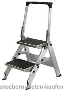 Leiter 2 stufen alu