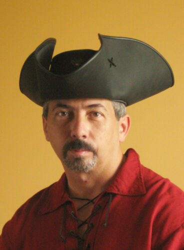 Serie Black Flag Medieval Renaissance SCA Larp Tricorn Pirate Captain Big Hat