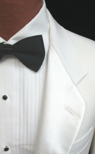 Men/'s White Tuxedo Tailcoat with Satin Notch Lapels Vampire Halloween Costume