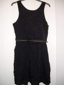 Topshop-cut-out-back-black-dress-size-10
