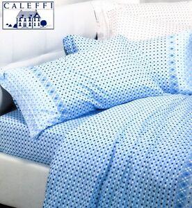 Completo letto lenzuola in calda flanella caleffi gipsy singolo 1 piazza ebay - Lenzuola flanella letto singolo ...