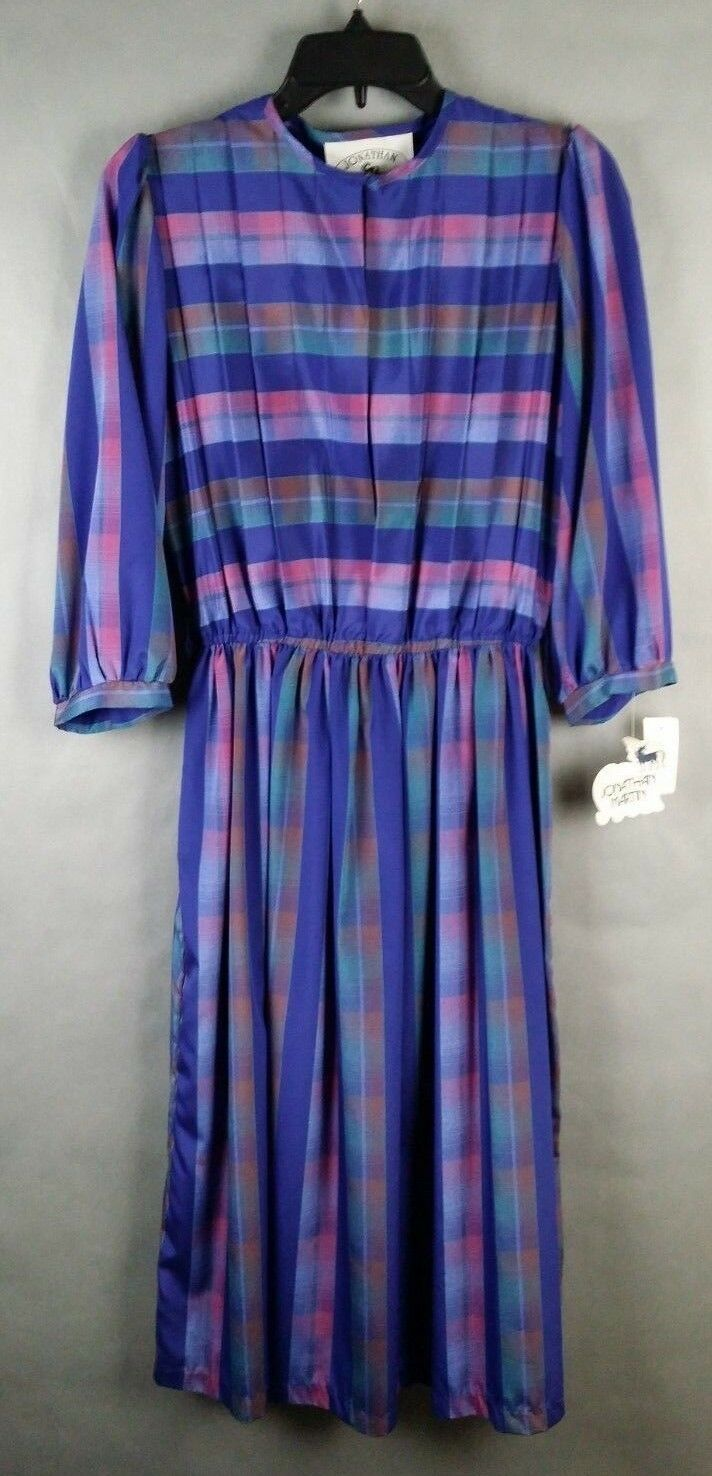 Original Original Original tag RETRO VINTAGE 80's Jonathan Martin Authentic Dress Stripe Size 9 10 d651ed