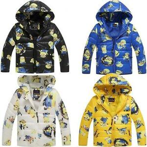 3a48cb3ce050 Minion Jacket Kids Down Jacket For Boy Baby Minion Clothes Winter ...