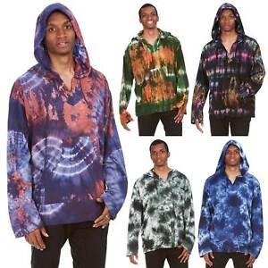 san francisco c1c00 31755 Details zu Mens Tie Dye Hoodie, Mens Hippie Clothing, Mens Hippy Festival  Top, Boho Kurta