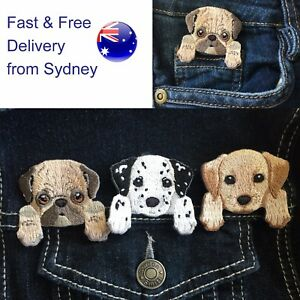 Dog iron on patch Choice Dalmatian Pug Labrador Kelpie puppy