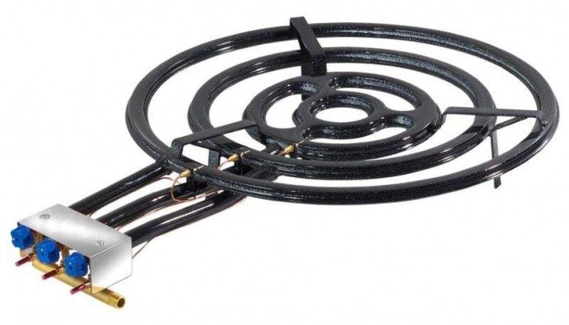 Une paella bruciatore a gas con backup di accensione 70cm, professionale, estremamente