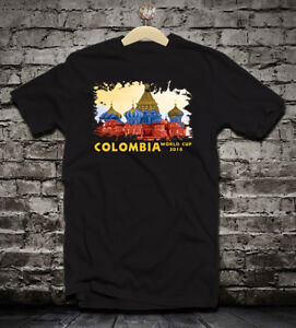 4f0b098302d Colombia World cup Russia 2018 soccer t shirt jersey camiseta WHITE ...
