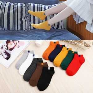 Women-Cotton-Solid-Ankle-Socks-Soft-Solid-Short-Sport-Casual-Hosiery-Candy-Color