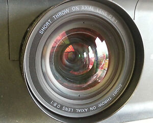 SHORT THROW ON AXIAL LENS 0.8:1 (LNS-W32) for SANYO PLC-XP100L PROJECTOR
