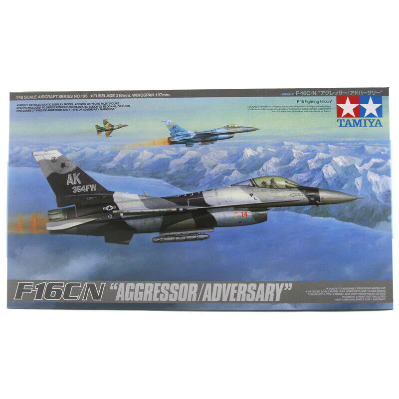 Tamiya F-16 C N  Aggressor Adversary  Model Set (Scale 1 48) - 61106 - NEW