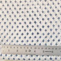 10 yard Hand Block Print 100% Cotton Fabric Indian Sanganeri Printed Fabric CJ6