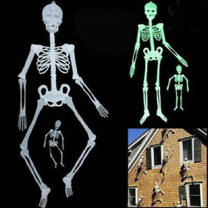 Halloween-Squelette-Suspendu-Fantome-Lumineux-90cm-Soiree-Decoration-Mur-Porte