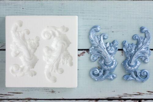 Left /& Right Flourish Silicone Mould,Decorative Scrolls Ellam Sugarcraft  M158