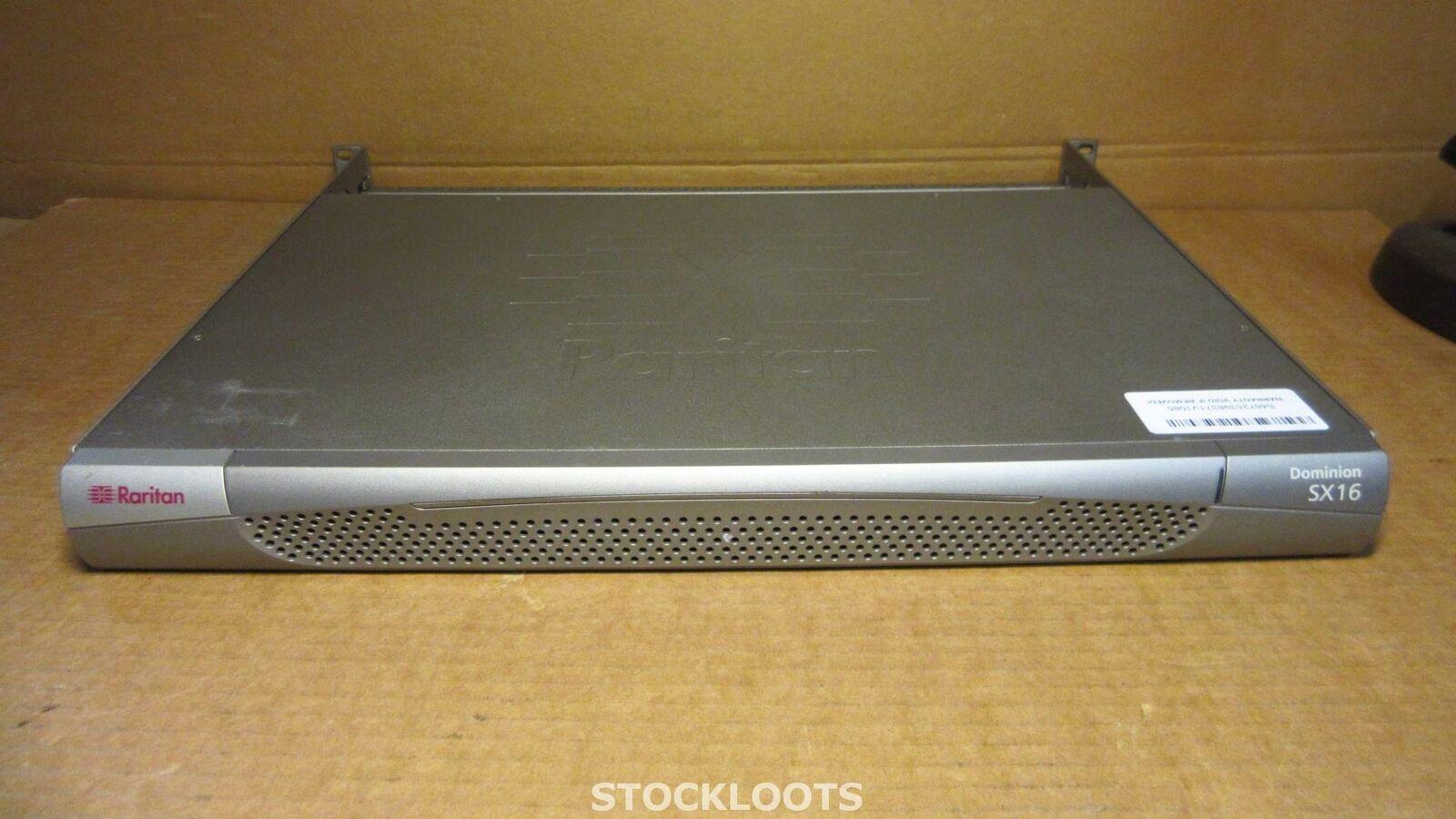 RARITAN DOMINION SX16 DSX16 - 16-Port Console Server INCL 1x SFP + RACK EARS