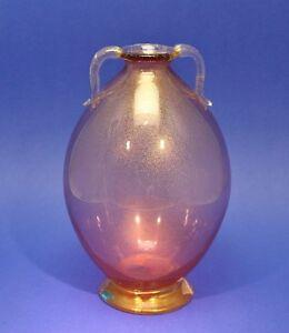 Murano-Vase-mit-feiner-Goldfolie-Entwurf-Carlo-Scarpa-fuer-Cappellin
