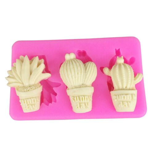 Cactus Shape Silicone Mold DIY Sugar Craft Cake Mould Decor Home Kitchen Tool UK
