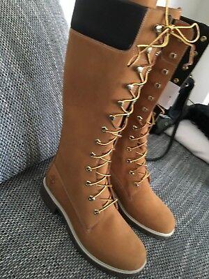 Timberland Premium 14 Inch Wheat Boots Schnürstiefel Damen Neu   eBay