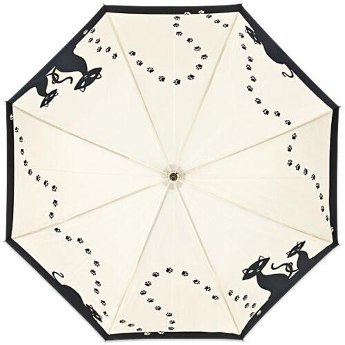Regenschirm Stockschirm Motivschirm Automatiköffnung Tiermotiv Schwarze Katzen