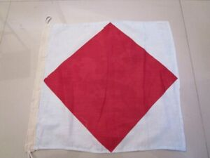 "15/"" X 15/"" Nautical // Boat Naval Signal Flag D 100/% Cotton – Marine Code"