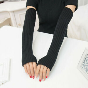 Women's Arm Warmers for Cable Knit Warm Winter Sleeve Fingerless Fashion  Gloves   eBay
