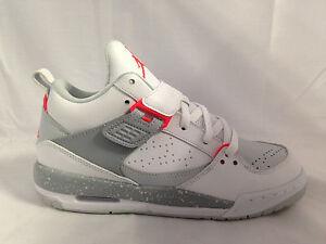 210bc21098c5b5 Junior Nike Jordan Flight 45 High 644869 123 White Infrared Platinum ...