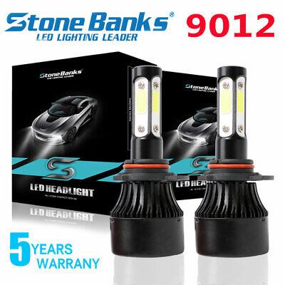 9012 LED Headlight Bulbs Kit For Cadillac ATS High Low Beam 16000LM 60W 6500K