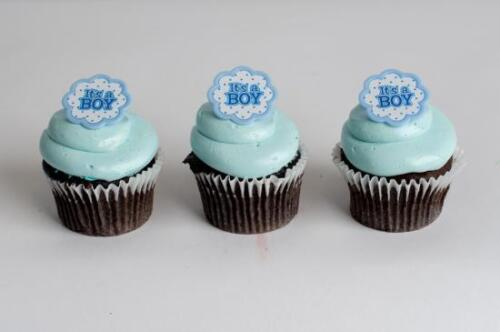 it/'s a Boy 24ct Baby Shower Cupcake Rings Bag Fillers Party Game Favors Prizes