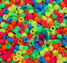 Multi Neon Colors 7x4mm mini Pony Beads 1000pc bag