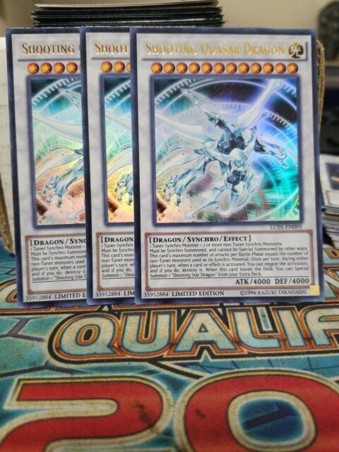 Yugioh 3x Shooting Quasar Dragon LC05-EN005 Ultra Rare ...