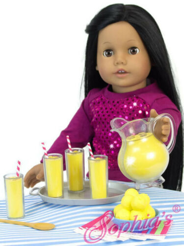9 pc Lemonade Play Set for 18 inch American Girl Dolls Accessories by Sophia/'s