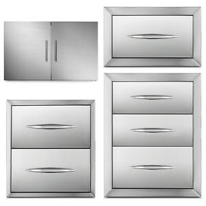 Details About Outdoor Kitchen Drawer Door Access Bbq Polished Sliver Chest Of Drawers