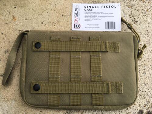 3 V GEAR SINGLE Pistol Case molle plateforme noir Coyote TAN ou OD Vert couleurs