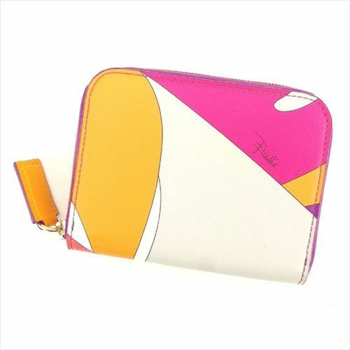 Emilio Pucci Wallet Purse Coin Purse Pink Purple W