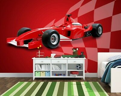 Wall Window Decal Sticker Super Fast Car Formula 1 Childroom Teen room  Bedroom Guestroom  083u