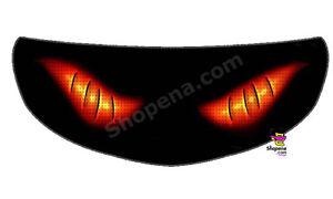 Fire Crossbone Helmet Visor Sticker Flame Motorcycle Shield Decal - Motorcycle helmet visor decals