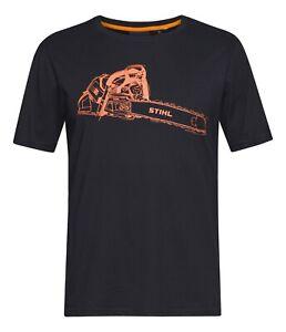 Stihl-T-Shirt-MS-500i-Herren-Schwarz-Shirt-Kurzarm-XL-XXL-2XL-Neu