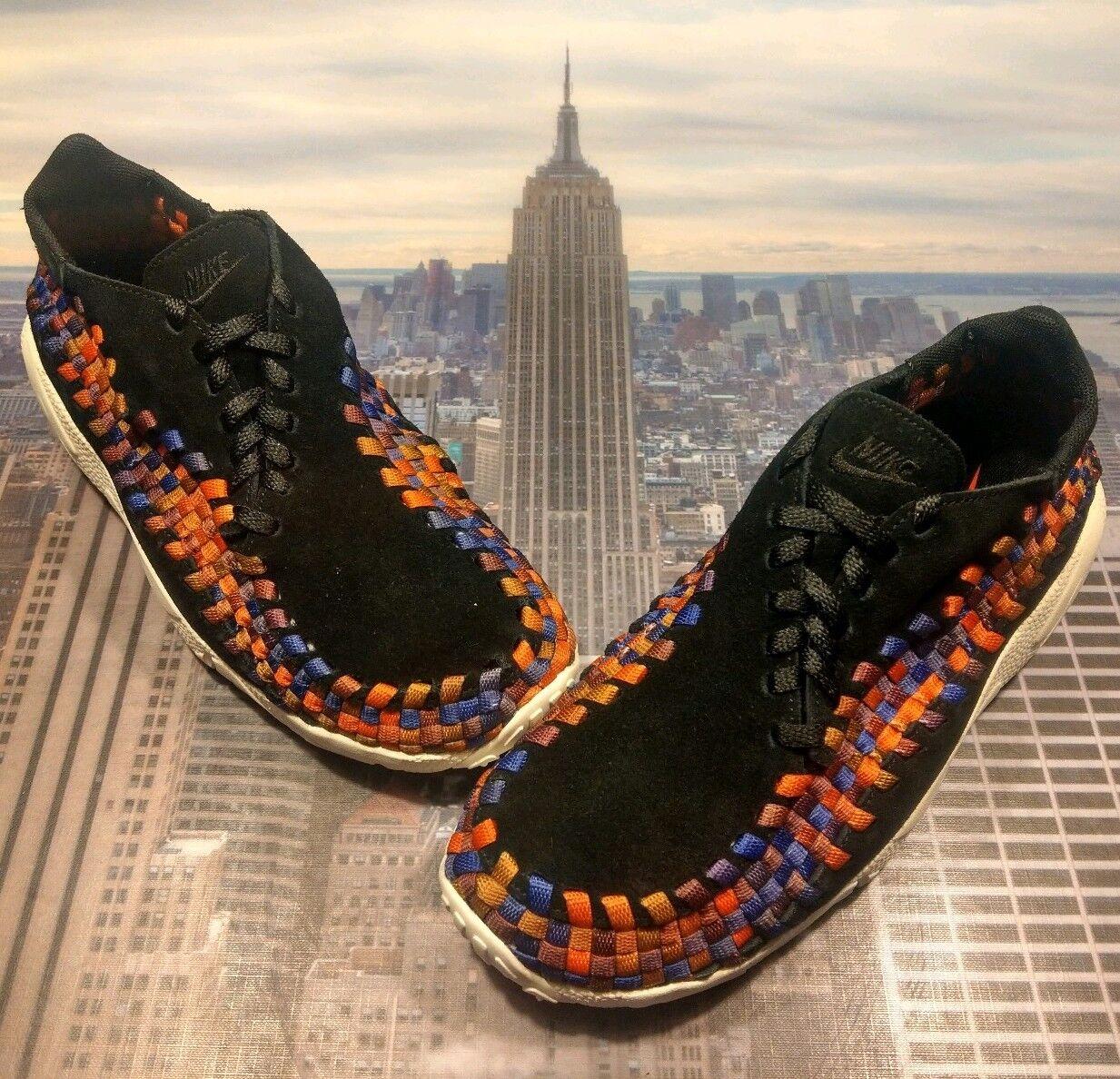 Nike NikeLab Air Footscape Woven NM Black Sail-Crimson Mens Size 6 874892 003