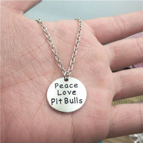 Creative Bijoux Cadeau D/'Anniversaire La paix Pit Bulls Argent Collier Pendentif Ornement