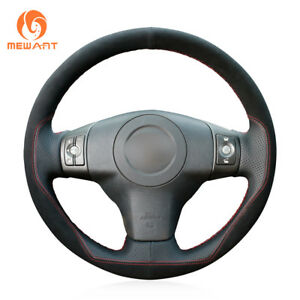 Black-Leather-Suede-Steering-Wheel-Cover-for-Toyota-Yaris-Vios-RAV4-Scion-XB