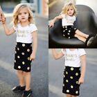 2pcs Toddler Kids Baby Girl Outfit T-shirt Top +Tutu Dress Skirt Clothes Set
