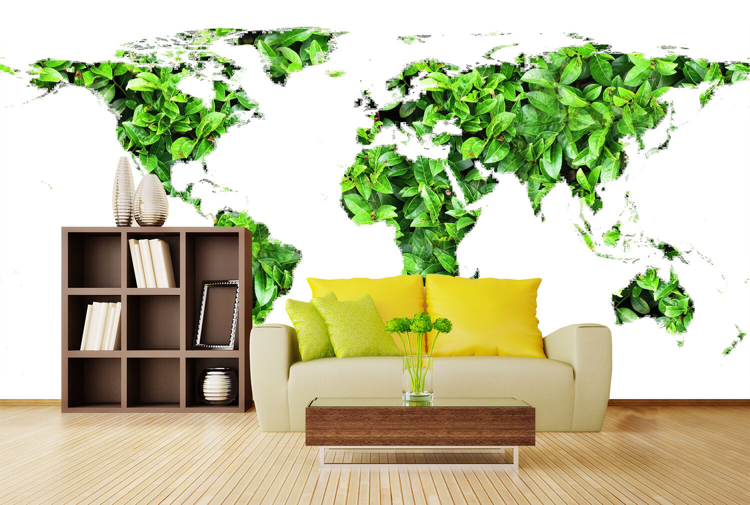 3D Green Plants Map 918 Wall Paper Wall Print Decal Wall Deco Indoor Wall