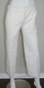 pezzi Emilio Pantaloni 6 con lino Pucci in a costine cotone cotone da bianco Sm Small piatto in davanti FZ5fFxq