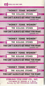 """Rolling Stones """"Honky Tonk Woman""""""""You Can't Always Get What .."""" 5 Label Jukebox"""