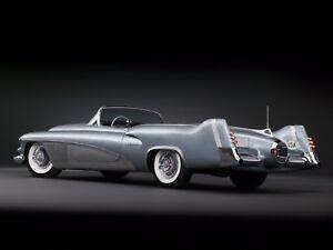 Vintage-Mid-Century-Atomic-Modern-1950s-1960s-Jet-Space-Age-Concept-Car-Art-Deco