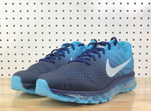 Nike Air Max 2017 Mens Size 10.5 Running Shoes Binary Glacier Blue 849559 404