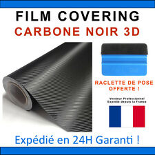 200 x 152cm Carbone 3D Noir Film Vinyle Sticker Covering THERMOFORMABLE DISCOUNT