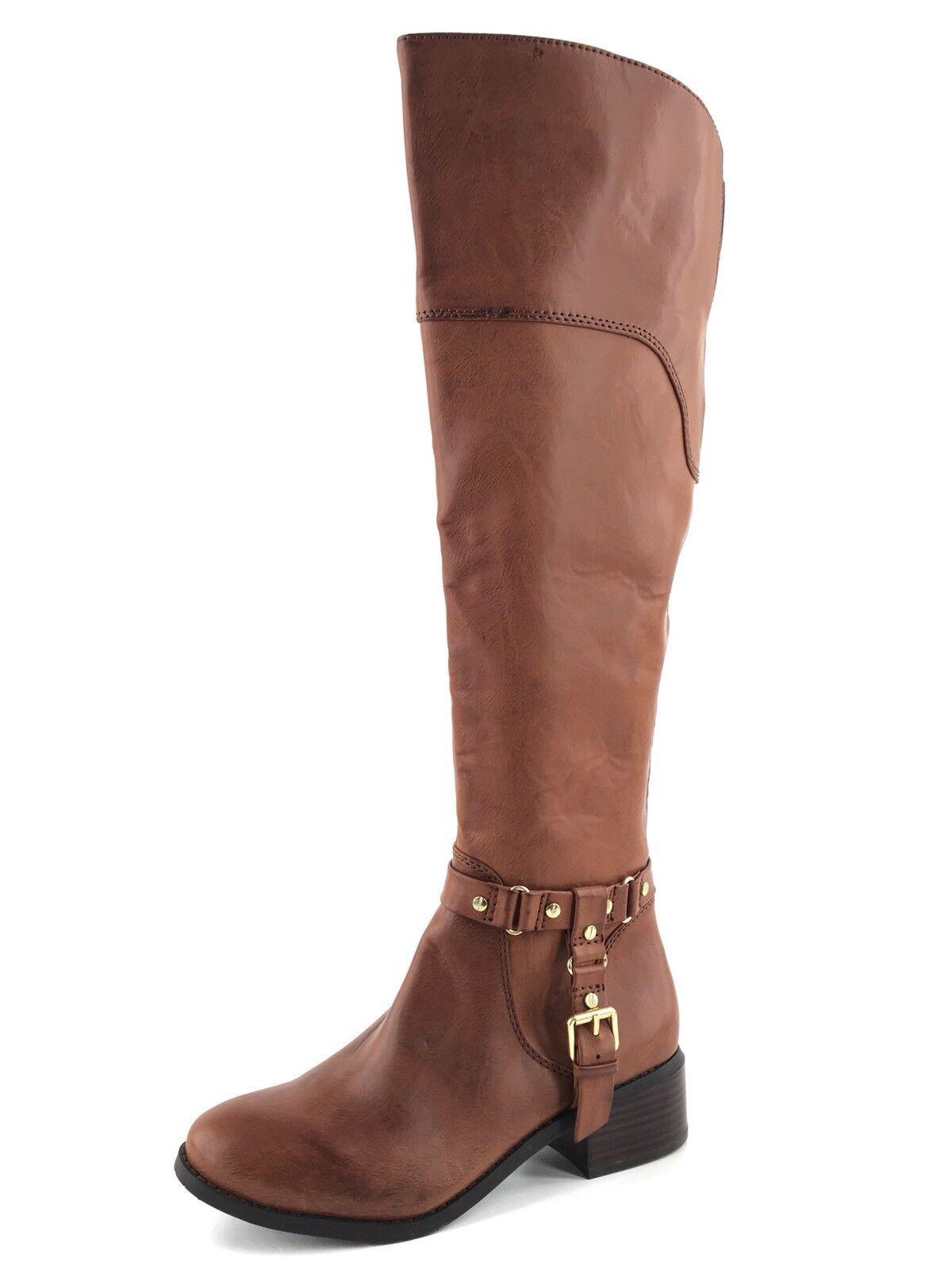 Dolce Vita Coup Cognac Leder Over The Knee Riding Stiefel Damens's Größe 7 M