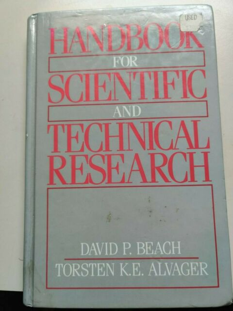 Handbook for Scientific and Technical Research by Torsten E. Alvager and...