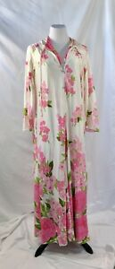 VINTAGE-Women-039-s-Pink-Floral-Nightgown-and-Robe-MEDIUM